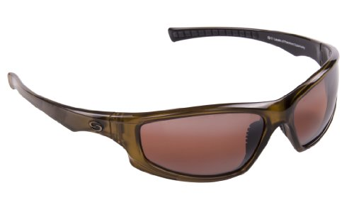 Strike King S11 Optics Full Frame with Slim Arm Polarized Sunglasses (Clear Gold Metallic-Black Two Tone Amber), Outdoor Stuffs