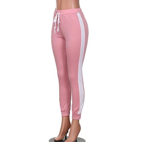 Gym Pantalon zahuihuiM Femmes Sportifs Fitness Couleur Vtements Sport Yoga Rose Solide Leggings txt4wA6q