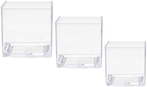 Royal Imports Flower Acrylic Vases Cubes – Decorative Centerpiece for Home or Wedding – Non Breakable Plastic, 1-Set of 3 Sizes 4 , 5 , 6 – Clear