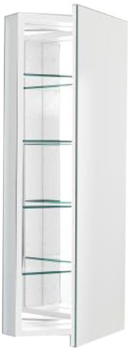 Robern PLM1640W Pl-Series Flat Mirror Medicine Cabinet, White