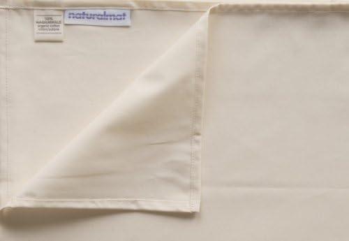 Natural Mat - Sábana Bajera Ajustable de percal de algodón orgánico: Amazon.es: Bebé