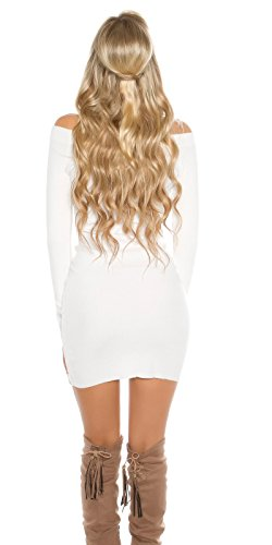 KouCla - Vestido - Con cortes - Manga Larga - para mujer Weiß