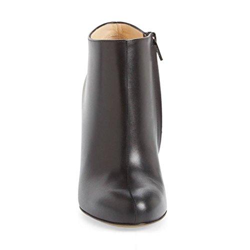 Tacco A Spillo Stivaletti Tacco A Spillo Stivaletti Alla Caviglia Scarpe Comode Con Cerniera Laterale Taglia 4-15 Us Nero