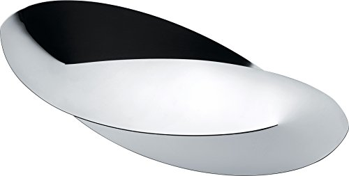 Alessi ''Octave'' Bread And Breadstick Basket in 18/10 Stainless Steel Mirror Polished, Silver by Alessi