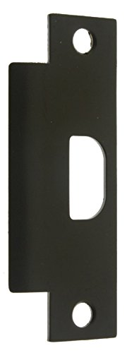 Strike Plate Universal (idh by St. Simons 28410-019 Premium Quality Solid Brass Asa Universal Door Strike, Matte Black)