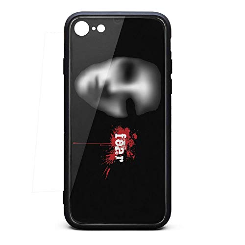 Scary Halloween mask Eyes Phone Case for iPhone 7/8 TPU Gel Protective Cool Anti-Scratch Fashionable Glossy Anti Slip Thin Shockproof Soft Case ()