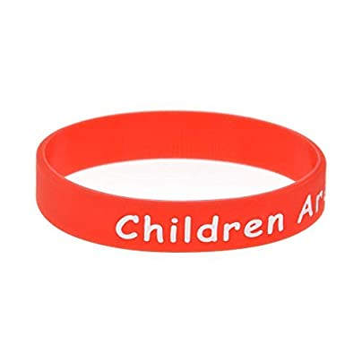 Sxuefang Silicone Wristbands With Sayings rsquo Children Are Awesome lsquo Rubber Bracelets For Clever Kids Motivation Set Pieces Estimated Price £29.99 -