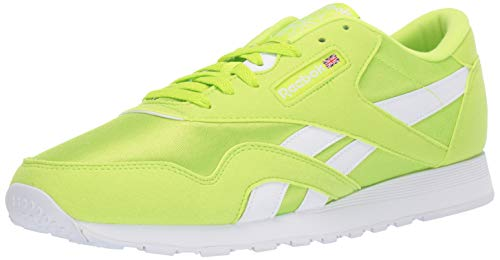 Lime Green Footwear - Reebok Classic Nylon Sneaker, neon Lime/White, 13 M US