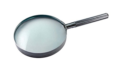 (SE MM2024 2X Chrome-Plated Handheld Magnifier)
