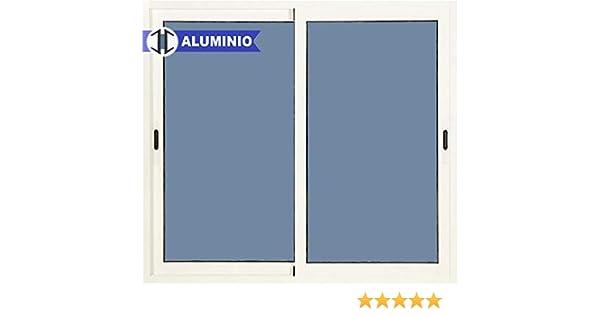 Ventana Aluminio Corredera 800 ancho x 800 alto 2 hojas: Amazon.es ...