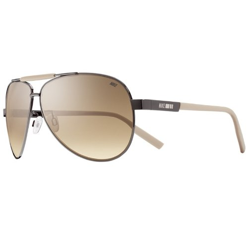 Nike MDL. 260 Sunglasses, Gunmetal/Classic Stone, Gradient Brown - Case Nike Sunglass
