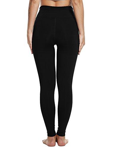 2a02fdc3f5ec49 Ekouaer Women's Ankle Leggings Yoga Pants Workout Running Tights (Black,Large)