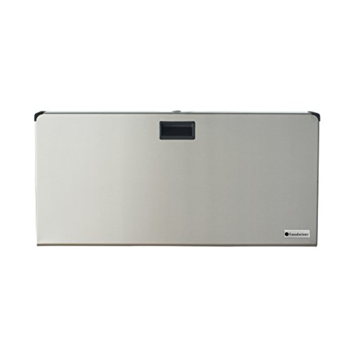 Foundations Frameless Clad Horizontal Surface Mount Baby Changing Station, Stainless Steel