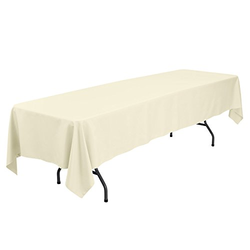 Remedios 60 x 126-inch Rectangle Polyester Tablecloth Table Cover - Wedding Restaurant Party Banquet Decoration, Light Yellow