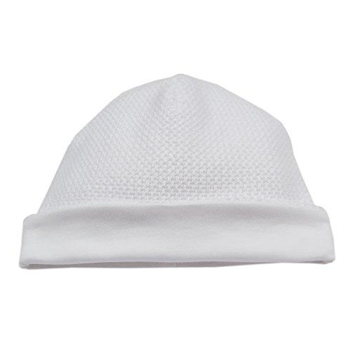 Kissy Kissy Baby Girls Honey Bear Hat - White-Newborn