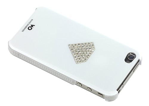 White Diamonds Rainbow  Schutzhülle für Apple iPhone 4/4S weiß