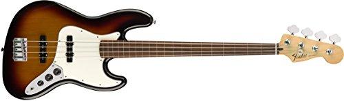 Fender Standard Jazz Electric Bass Guitar - Fretless - Pau Ferro Fingerboard, Brown Sunburst