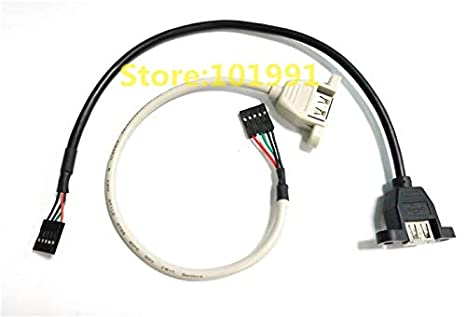 Cable Length: 30cm Computer Cables Yoton New Mainboard Internal 5Pin USB Female to USB2.0 Female Data Cable 30CM Black High Speed Cable