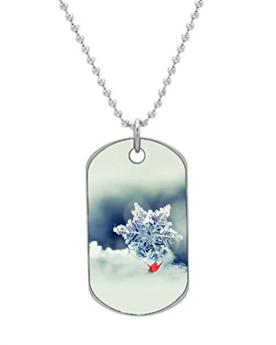 Trees Bench Dog Keychain Snowy Alley Tag Necklace Color24 Park dgwwaP