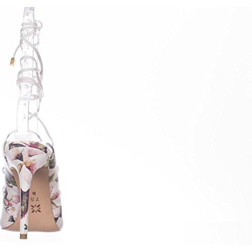 Bcbgeneration Kvinna Hayes Spetsig Tå Fotled Wrap Klassiska Pumpar Krita Akvarell Floral