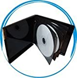 50pcs 8-CD/DVD Black Poly Case w/Outer Graphics