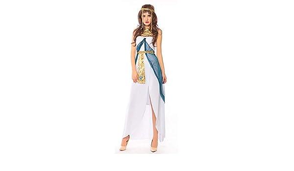 YyiHan Cosplay Disfraz, Cleopatra Blanco Sexy Trajes Diosa de ...