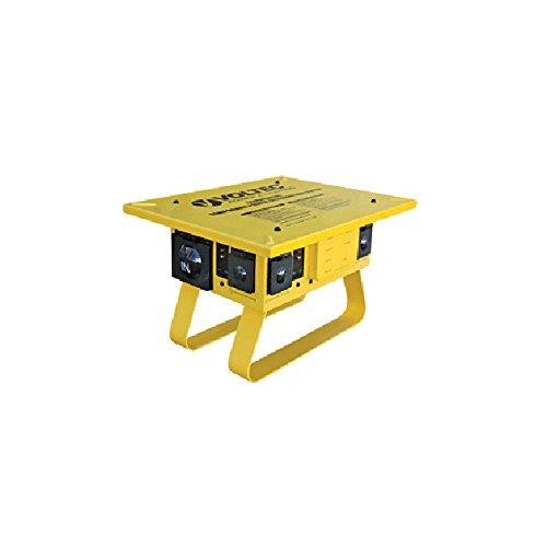 Voltec Industries 09-0T676 U-Ground T-Slot Temporary Power Box 125/250 Volt 50 Amp (6) NEMA L5-20R GFCI (1) NEMA L6-30R T-Box