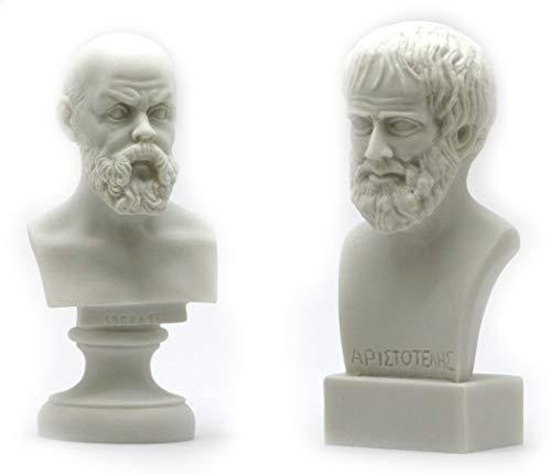 Socrates & Aristotle Greek Philosopher Bust Head Set Statue Sculpture (Sculpture Head Bust)