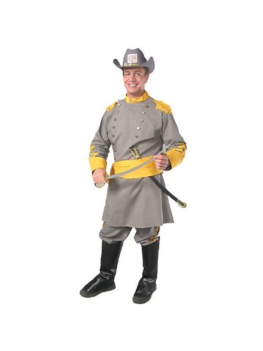 Alexanders Costumes Confederate Officer, Grey, One (Confederate Costume)