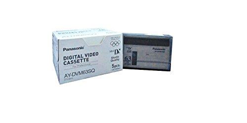 Panasonic AY-DVM63PQ Professional Quality MiniDV 63min Data Tape Cartridge 5 Packs by Panasonic