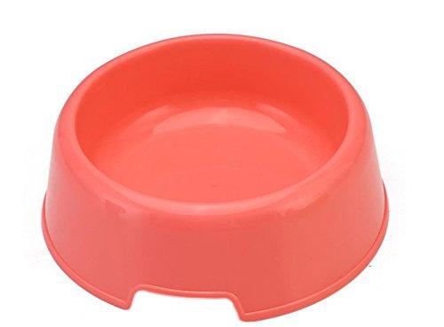 Yonger Non-slip Pet Dog Bowl Plastic Hard Pet Bowl Food Water Dish Feeder Dog Bowl Puppy Cat Bowl Utensils Red