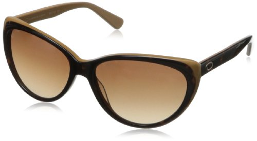 O by Oscar de la Renta Eyewear Women's SSC5118 Cateye Sunglasses,Brown & Gold,174 - De Frames Renta Oscar La