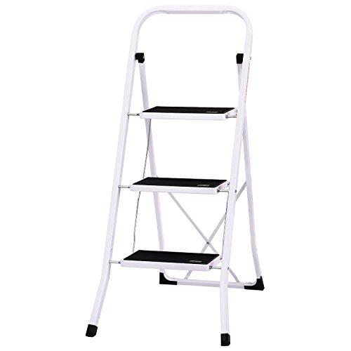 Ollieroo Ladder EN131 Steel Folding 3 St - Ladder Keeper Shopping Results