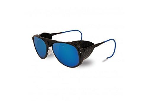 Vuarnet VL 1315 0011 (Matt Black - Blue with Grey with Blue mirror effect lenses)
