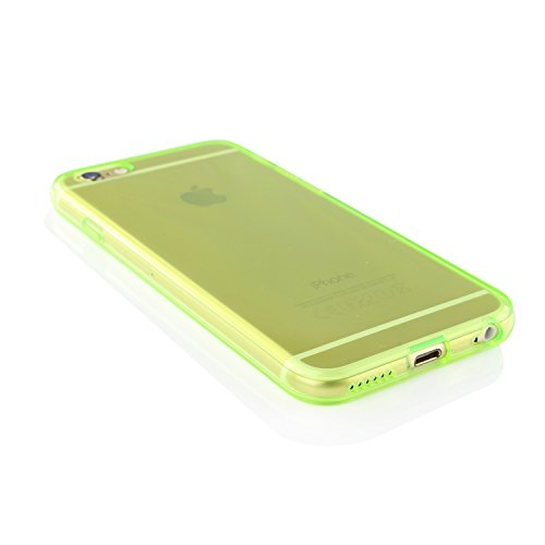 Urcover® Apple iPhone 6 / 6s Handy Schutz-Hülle | TPU in Grün - Transparent | Weich Case | flexibel Silikon Cover | Smartphone Zubehör Schale Etui klar