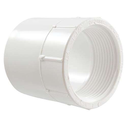 (NIBCO 435 Series PVC Pipe Fitting, Adapter, Schedule 40, 1-1/2