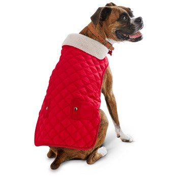 Petco Pup Crew Quilted Red Dog Jacket, X-Small