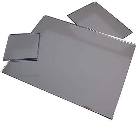 Platte Zuschnitt silber 1000 x 600 x 3 mm Spiegel aus Acrylglas XT