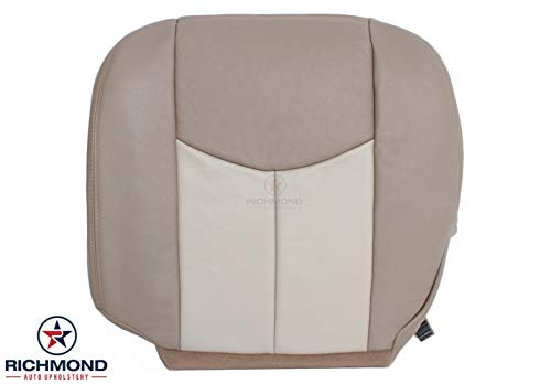 2004 GMC Sierra Denali 1500 Driver Side Bottom Replacement Leather Seat Cover, 2-Tone Tan ()