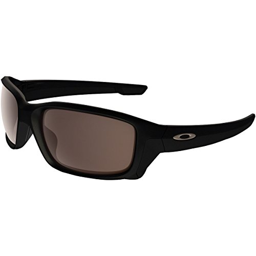 Oakley Men's OO9336 Straightlink Asian Fit Rectangular Sunglasses, Matte Black/Warm Grey, 61 mm (Oakley Asian Fit Damen)