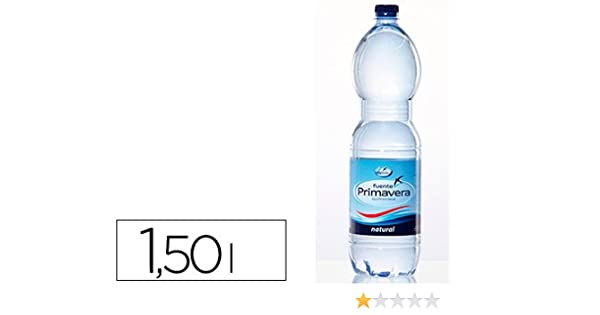 Fuente Primavera - Agua mineral natural botella de 1,5l (6 unidades): Amazon.es: Alimentación y bebidas