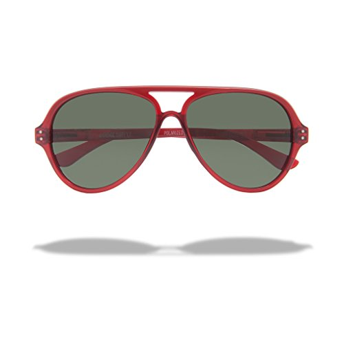 Local Supply Unisex AIRPORT Pacific Red / Green - Supply Local Sunglasses