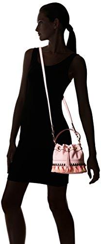 MILLY Whitpstitch Body SM Drawstring Bag Cross Blush Tassel 44drq