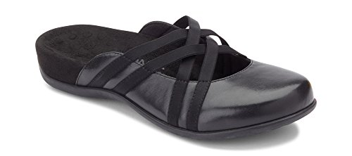 Vionic Women's Rest Claire Mary Jane Mule - Backless Slide with Concealed Orthotic Arch Support Black 8 Medium US
