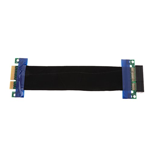 PCI-E 4X Slot Riser Card Extender Extension Flexible Cable PCI Express Cables 19cm 7.5 Inch Ribbon Relocate Connector