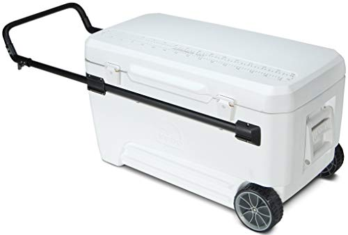 Igloo Glide PRO Cooler (110-Quart, White) - 45184 (Igloo Glide 110 Qt Marine Wheeled Cooler)