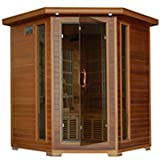 Whistler-4 Person Corner Infrared Cedar Sauna