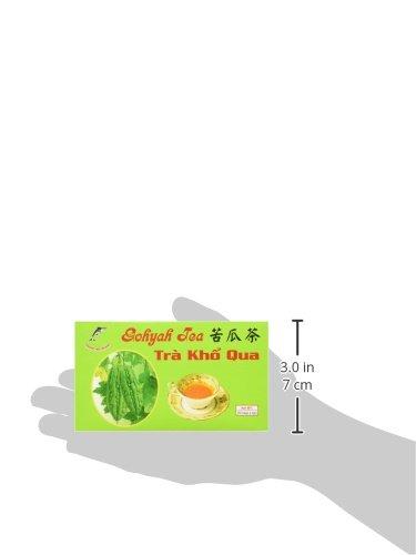 Gohyah Tea Bitter Melon (50 Tea Bags) by K & M Trading 4 Ampalaya bitter melon tea Fresh bitter gourd No flavor added
