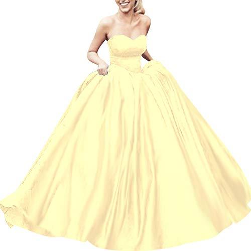 Bess Robe De Bal Des Femmes De Mariée Lacer Bal Soirée Bonbon 16 Jonquille Robe