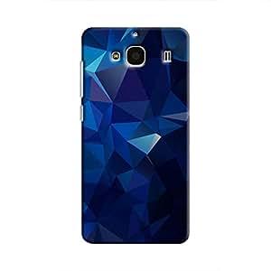 Cover It Up - Dark Blue Pixel Triangles Xiaomi RedMi 2 Prime Hard Case